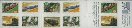 Aus SG1411a Australian Trains self-adhesive booklet pane (SB80)